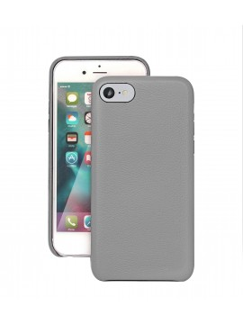 COQUE IPHONE 7 EN CUIR DE LUXE EXCLUSIVE CASE GRIS