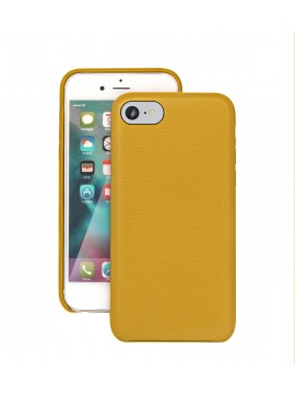 COQUE IPHONE 7 EN CUIR DE LUXE EXCLUSIVE CASE JAUNE