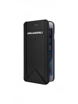 Etui à rabat KARL LAGERFELD pour modèle IPHONE 6/6S - KLFLBKP6SABK