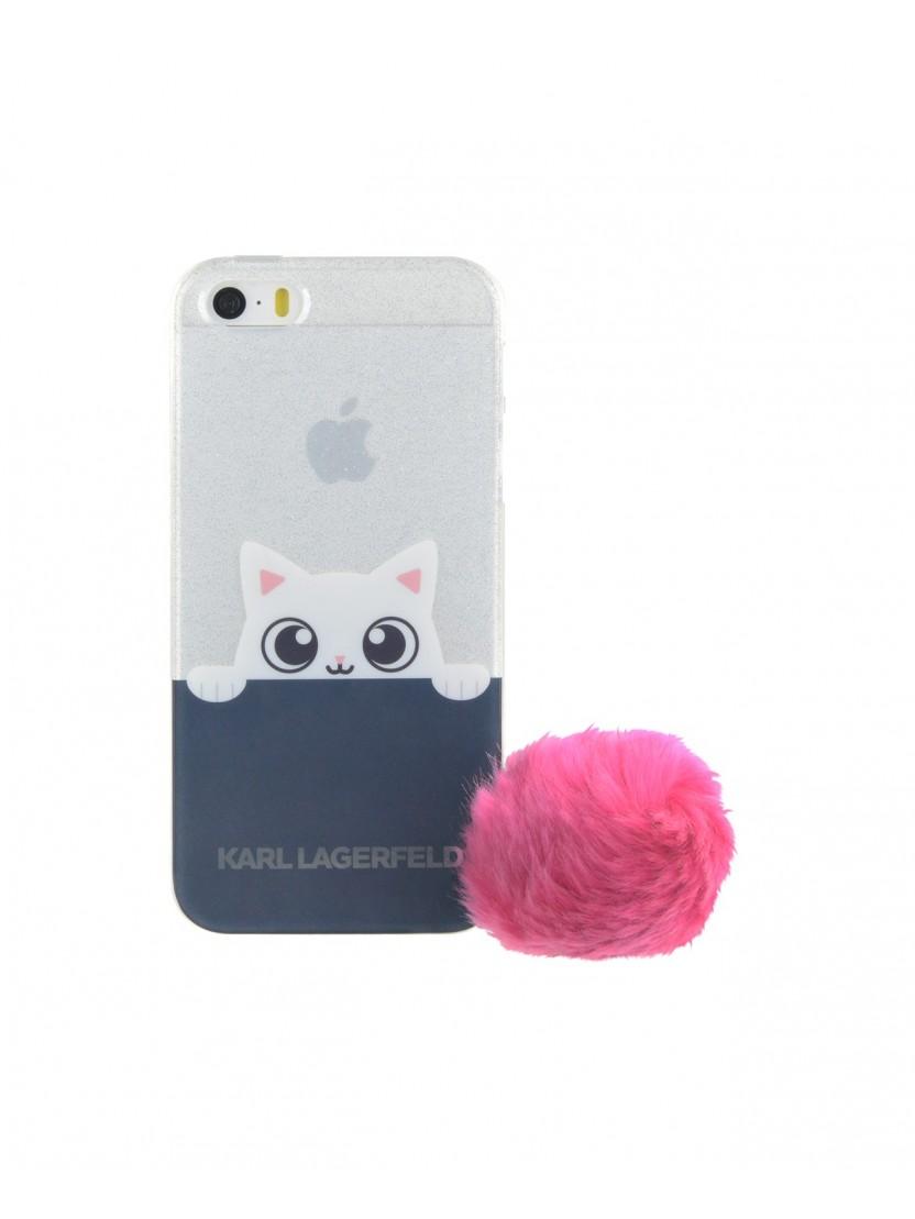 coque souple karl lagerfeld pour mod le iphone 5 5s. Black Bedroom Furniture Sets. Home Design Ideas