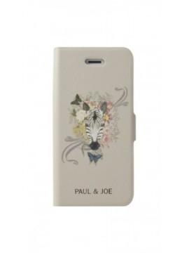Etuis à rabat PAUL&JOE pour modèle IPHONE 5/5S - PJHEFLBKP5WH