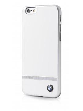 Coque rigide BMW blanche Signature Aluminium Stripe IPhone 6/6S