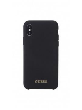 Coque souple GUESS pour modèle IPHONE XS - GUHCPXLSGLBK