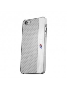 COQUE RIGIDE BMW NEW SIGNATURE ALUMINIUM STRIPE SILVER