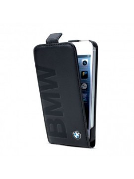 COQUE A RABAT EN CUIR NOIR BMW SIGNATURE COLLECTION