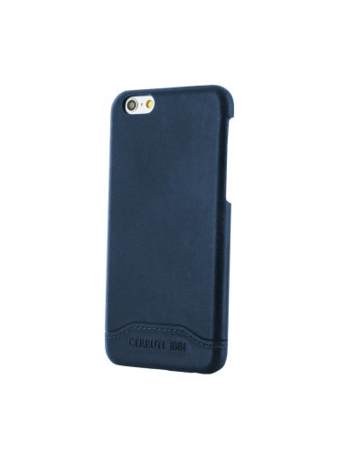 COQUE RIGIDE BLEUE EN CUIR CERRUTI COLLECTION ELEGANT