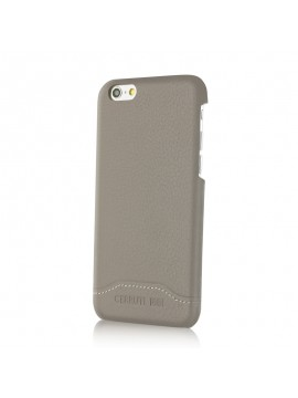 COQUE RIGIDE TAUPE EN CUIR CERRUTI COLLECTION SIGNATURE TRIM
