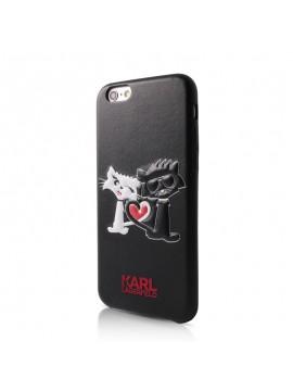 Coque rigide noire Karl Lagerfeld Choupette in Love