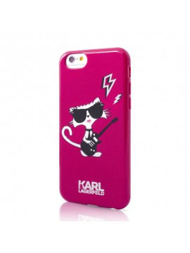 Coque souple rose Karl Lagerfeld collection K-Punk