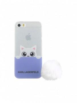 Coque souple KARL LAGERFELD pour modèle IPHONE 5/5S - KLHCPSETRGPABBL